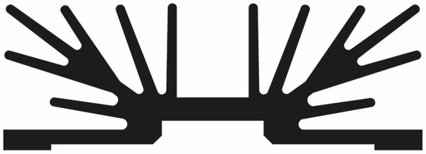 Kühlkörper, Fischer Elektronik, SK 64 37 SA 1 x 3, Profilkühlkörper, schwarz, Aluminium