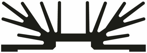 Kühlkörper, Fischer Elektronik, SK 64 75 SA 2 x 3, Profilkühlkörper, schwarz, Aluminium