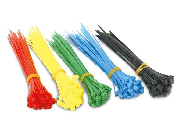 Kabelbinder-Sortiment, farbig