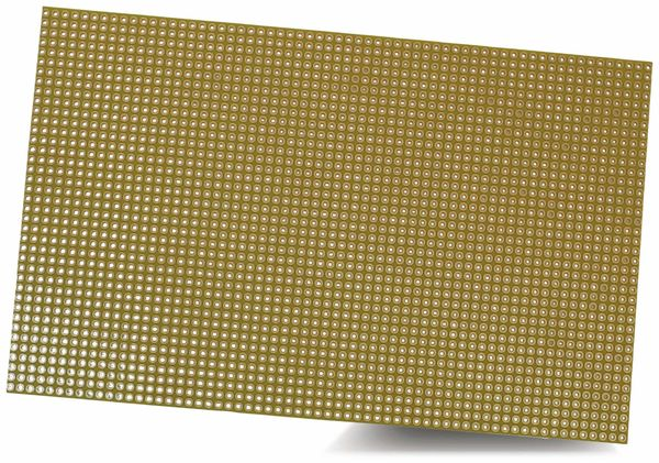 Punktrasterplatine 160 x 100mm, RM 2,54