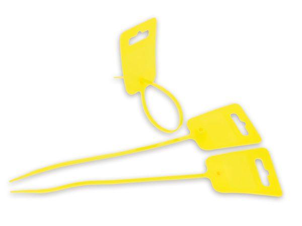 Beschriftbare Kabelbinder, 150 mm, gelb, 10 Stück