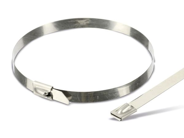 Edelstahl-Kabelbinder DAYTOOLS EK4.6X300, 10 Stück
