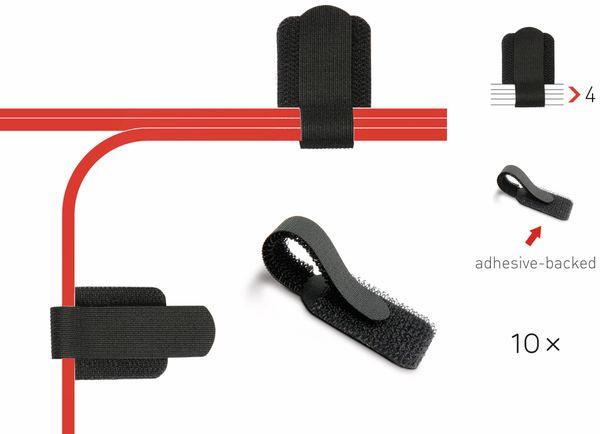 Klett-Kabelbinder LTC WALL STRAPS, schwarz, 10 Stück - Produktbild 2