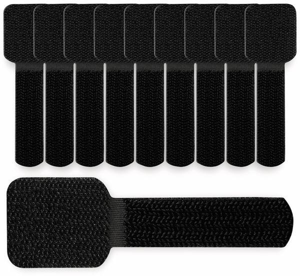 Klett-Kabelbinder LTC WALL STRAPS, schwarz, 10 Stück - Produktbild 3