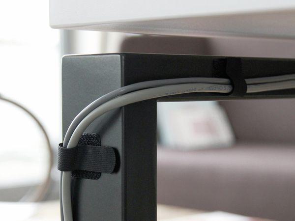 Klett-Kabelbinder LTC WALL STRAPS, schwarz, 10 Stück - Produktbild 4