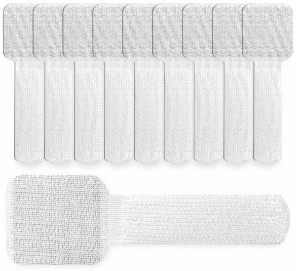 Klett-Kabelbinder LTC WALL STRAPS, weiß, 10 Stück - Produktbild 3
