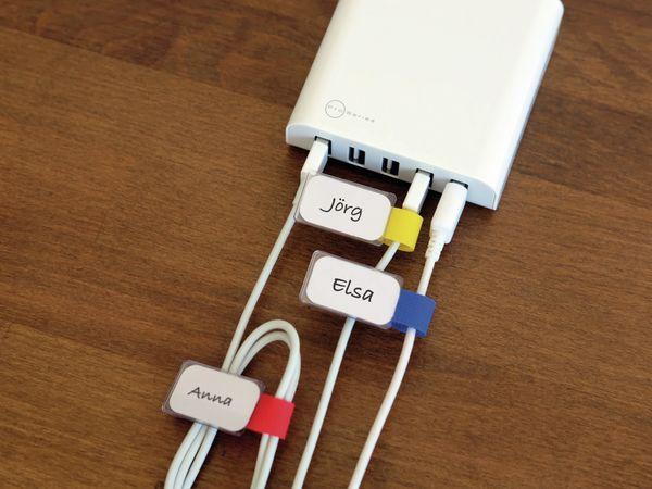 Klett-Kabelbinder LTC MINI, verschiedene Farben, 10 Stück - Produktbild 5