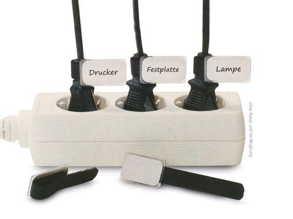 Klett-Kabelbinder LTC MINI, schwarz, 10 Stück - Produktbild 1