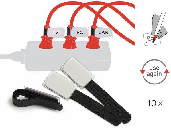 Klett-Kabelbinder LTC MINI TAGS, 10 Stück, schwarz - Produktbild 2