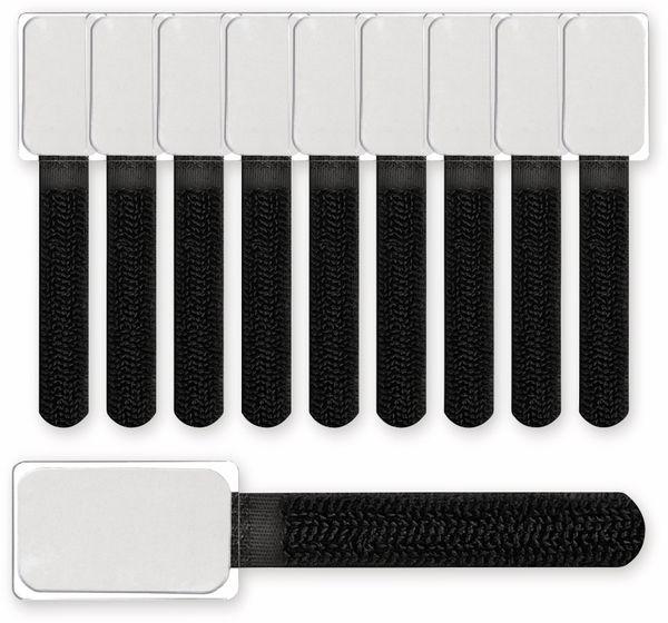 Klett-Kabelbinder LTC MINI TAGS, 10 Stück, schwarz - Produktbild 3
