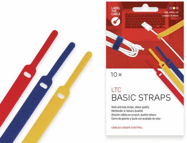 Klett-Kabelbinder LTC BASIC, verschiedene Farben, 10 Stück