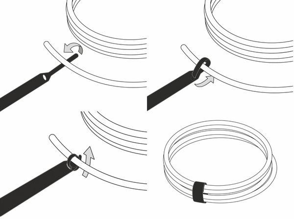 Klett-Kabelbinder LTC BASIC STRAPS, schwarz, 10 Stück - Produktbild 4