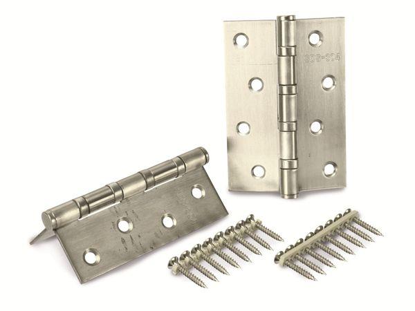 Edelstahl-Scharniere, rostfrei, 100x75 mm, 2 Stück - Produktbild 2