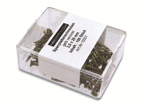 Spanplattenschrauben, 20x3,0 mm, 100 Stück - Produktbild 2