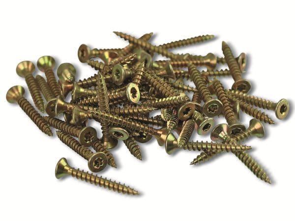 Spanplattenschrauben, 25x3,0 mm, 100 Stück