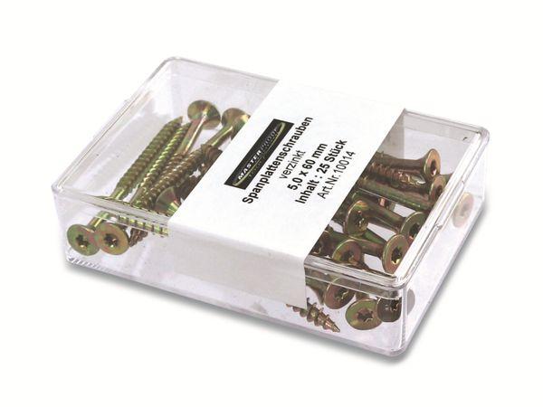 Spanplattenschrauben, 60x5,0 mm, 25 Stück - Produktbild 2