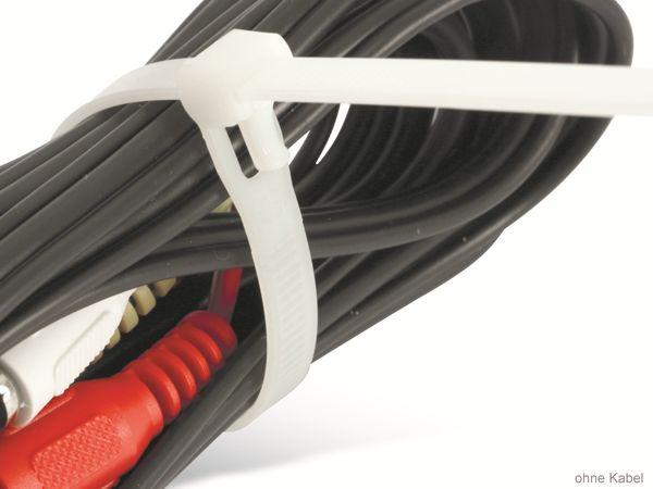 Kabelbinder, DAYTOOLS, 250x7,5 mm, Lösbar, weiß, 100 Stück - Produktbild 3