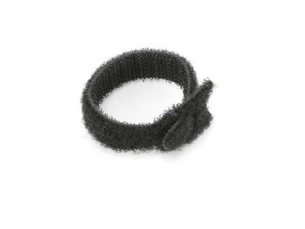 Kabelbinder, DAYTOOLS, 125x12 mm, Klettverschluss, schwarz, 10 Stück - Produktbild 3