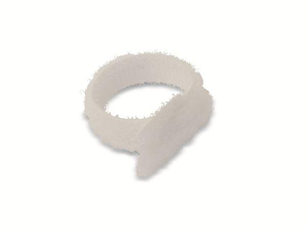 Kabelbinder, DAYTOOLS, 125x12 mm, Klettverschluss, weiß, 10 Stück - Produktbild 3