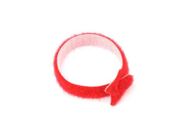 Kabelbinder, DAYTOOLS, 180x12 mm, Klettverschluss, rot, 10 Stück - Produktbild 3