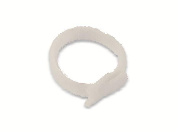 Kabelbinder, DAYTOOLS, 180x12 mm, Klettverschluss, weiß, 10 Stück - Produktbild 3