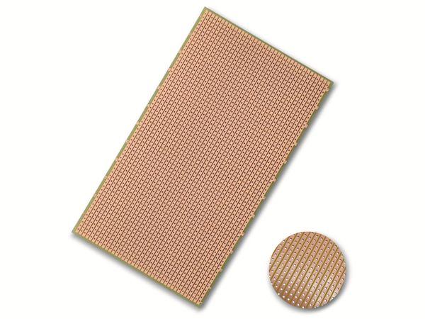 Streifenraster-Platine, FR4, Epoxyd, 160x100 mm
