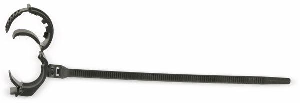 Kabelbinder für Rohrmontage, schwarz, 130 mm - Produktbild 1