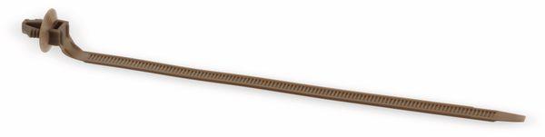 Snap-in Kabelbinder, 150 mm, braun - Produktbild 1