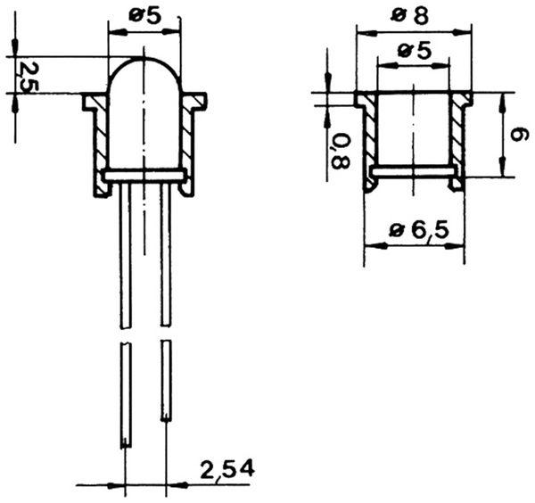 LED-Clipfassung für 5mm LED, 10 Stück - Produktbild 2