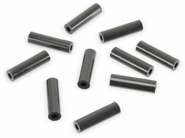 Distanzhülse, 25 x 7 x 3 mm, schwarz, 10 Stück