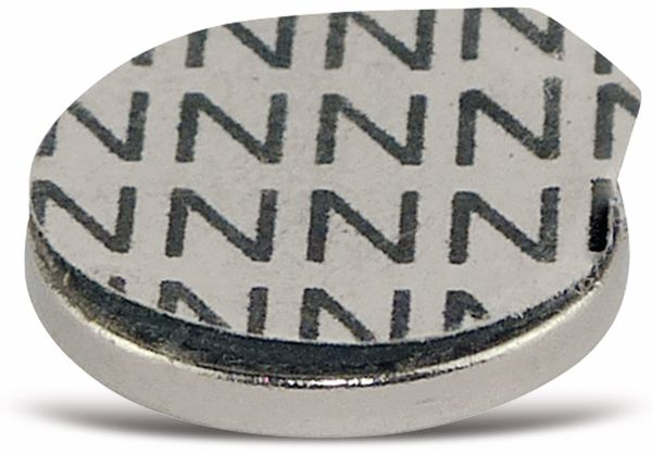 Neodymiummagnet, selbstklebend 12x1,5 mm, 8 Stück - Produktbild 2