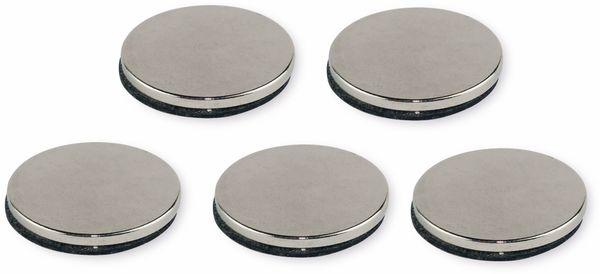 Neodymiummagnet, selbstklebend 19x1,5 mm, 5 Stück