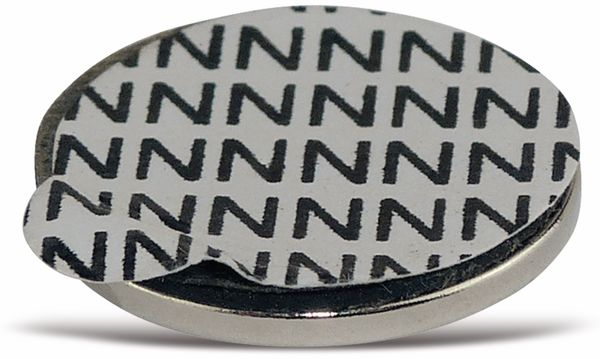 Neodymiummagnet, selbstklebend 19x1,5 mm, 5 Stück - Produktbild 2