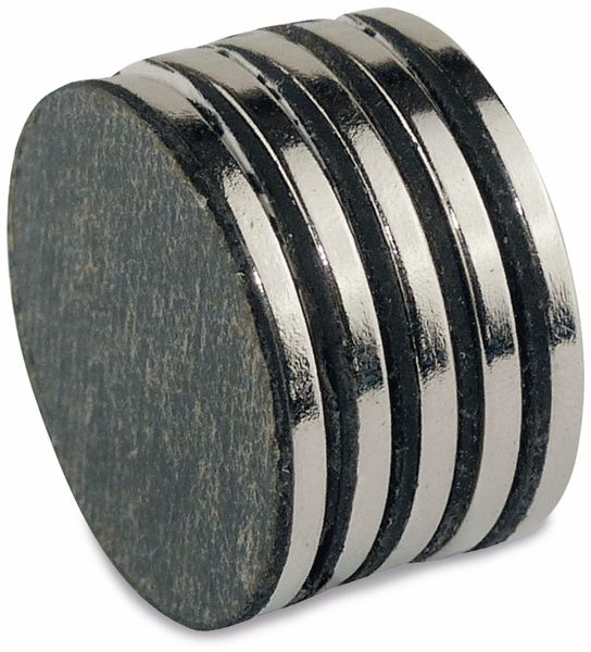 Neodymiummagnet, selbstklebend 19x1,5 mm, 5 Stück - Produktbild 3