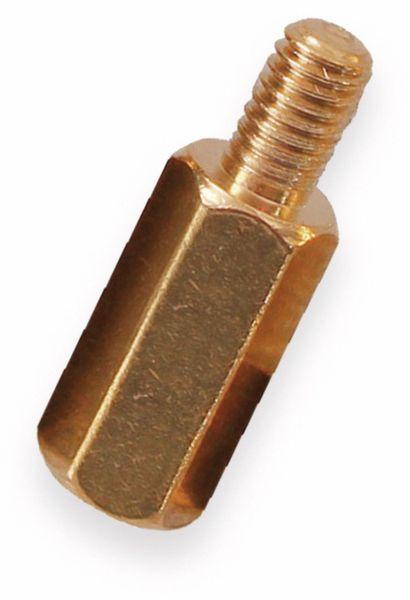 Abstandsbolzen, sechskant, Innen- Außengewinde M3, 10 mm