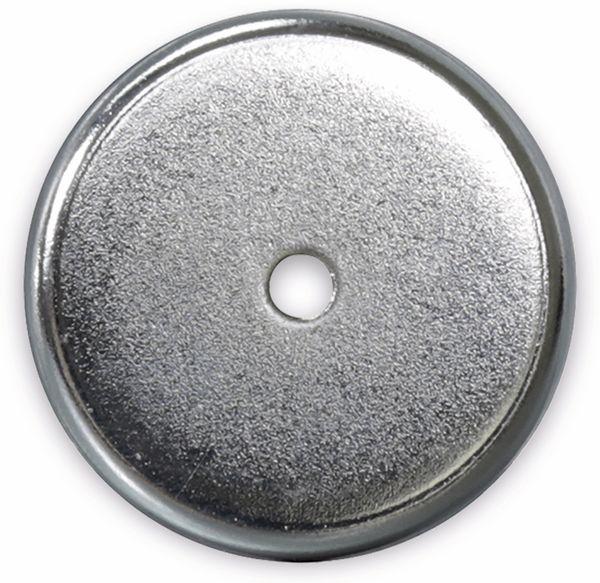 Magnet mit Bohrung, Ø 31x4,6 mm