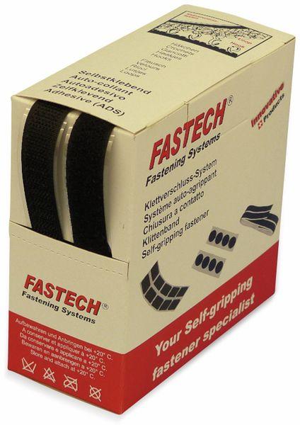 Klettband zum Aufkleben, FASTECH, Hotmelt Haft- und Flauschteil (L x B) 5000 mm x 16 mm Schwarz