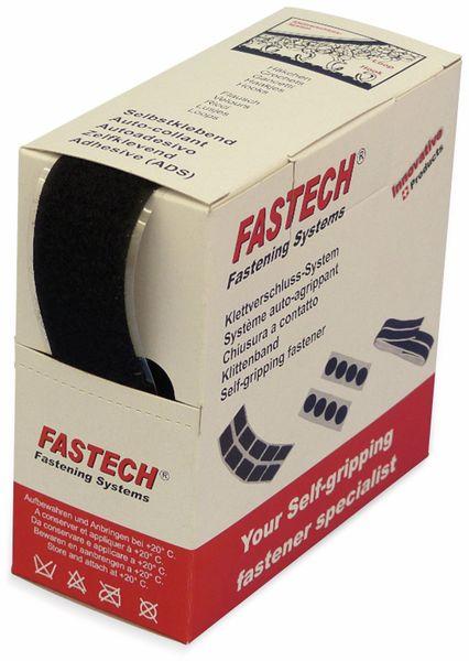 Klettband zum Aufkleben, FASTECH, Hotmelt Flauschteil (L x B) 5000 mm x 30 mm Schwarz