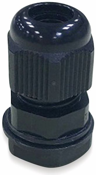 Kabelverschraubung, KSS, M25, schwarz, 13 bis 18