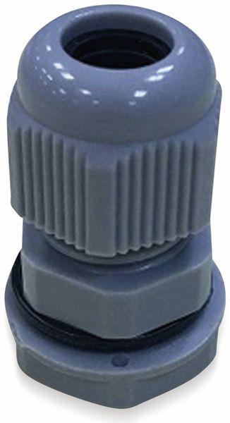 Kabelverschraubung, KSS, M12, Silber-Grau, 3 bis 6,5
