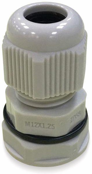 Kabelverschraubung, KSS, M12, Lichtgrau, 3 bis 6,5