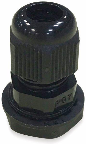 Kabelverschraubung, KSS, PG-16, schwarz, 18 bis 25