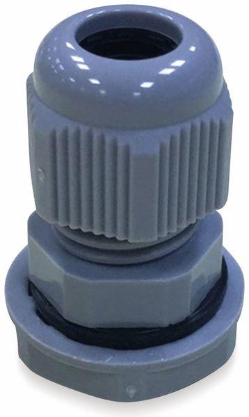 Kabelverschraubung, KSS, PG-9, Silber-Grau, 5 bis 10
