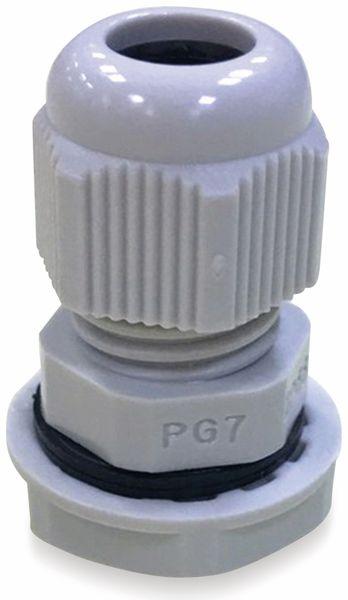 Kabelverschraubung, KSS, PG-21, Lichtgrau, 22 bis 32
