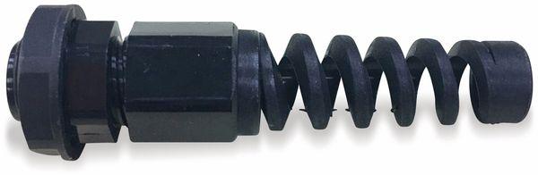 Kabelverschraubung, KSS, PG-7, schwarz, 3 bis 6,5