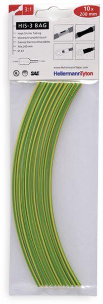 Warmschrumpfschlauch, HellermannTyton, 308-30316, 3:1 HIS-3 BAG 3/1 grün-gelb 1 TTE = 10 á20cm