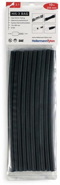 Warmschrumpfschlauch, HellermannTyton, 308-30610, 3:1 HIS-3 BAG 6/2 SW 1 TTE = 10 Abschnitte á 20cm