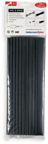 Warmschrumpfschlauch, HellermannTyton, 308-31210, 3:1 HIS-3 BAG 12/4 PO-X SW 1 TTE = 10 á20cm
