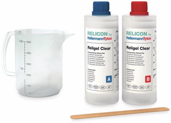 2-Komponenten-Silikongel, HellermannTyton, 435-00757, 500 ml