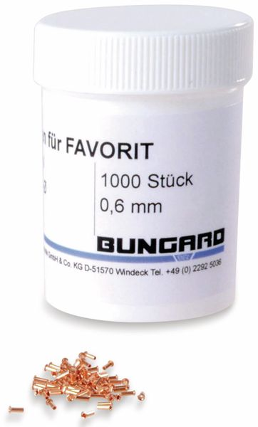 Durchkontaktierungsnieten, Bungard, 0.6, 1000 Stück